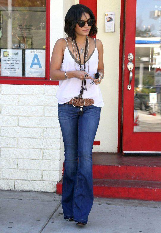 Vanessa hudgens in flared jeans