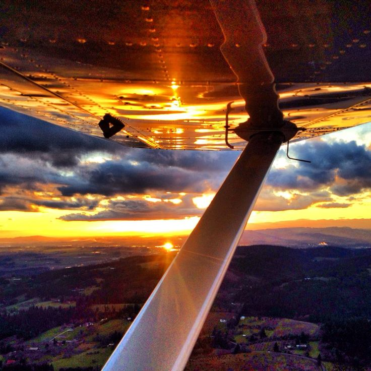 Cessna at sunset