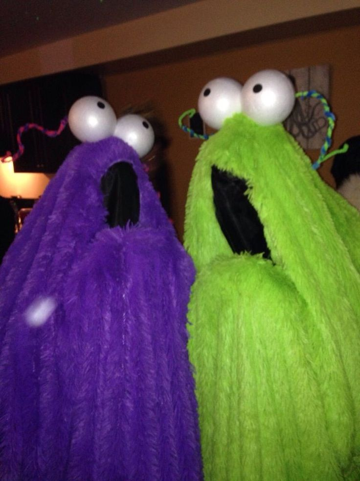 DIY Yip Yip monsters from Sesame Street