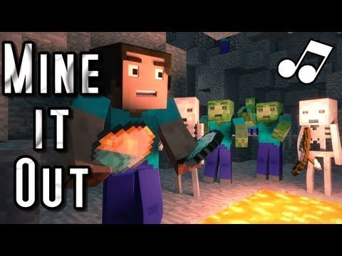 "♪ ""Mine It Out"" - A Minecraft Parody of will.i.am's Scream and Shout (Music Video) - YouTube"