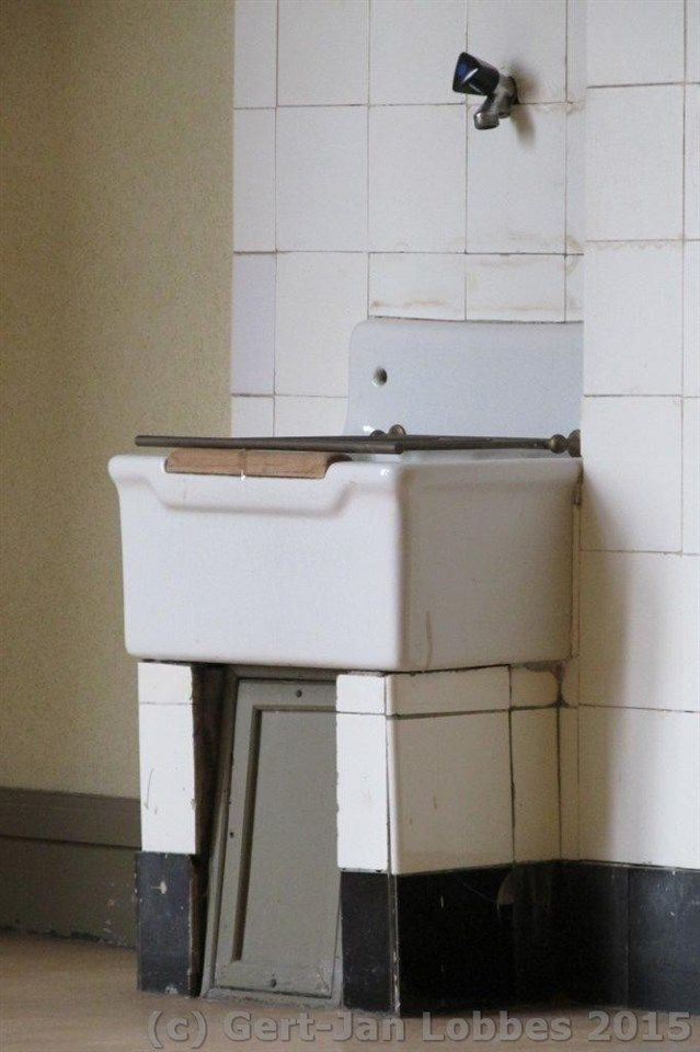 industrial Belfast style kitchen sink