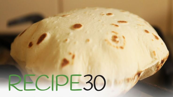Easy to make Roti Bread - Chapati recipe - Pita brød *** Ingredients 2 cups all purpose flour (Or whole wheat flour)  2 tbsp vegetable oil  2 tsp salt  ¾ cup of water  Butter or ghee (optional) http://www.recipe30.com/easy-to-make-roti-bread-chapati.html/