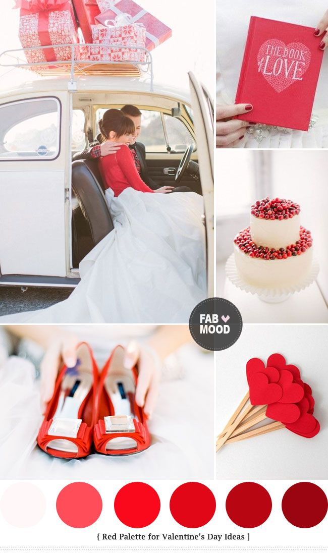 Rojo   http://fabmood.com/red-colour-palette-valentines-wedding-day-ideas/