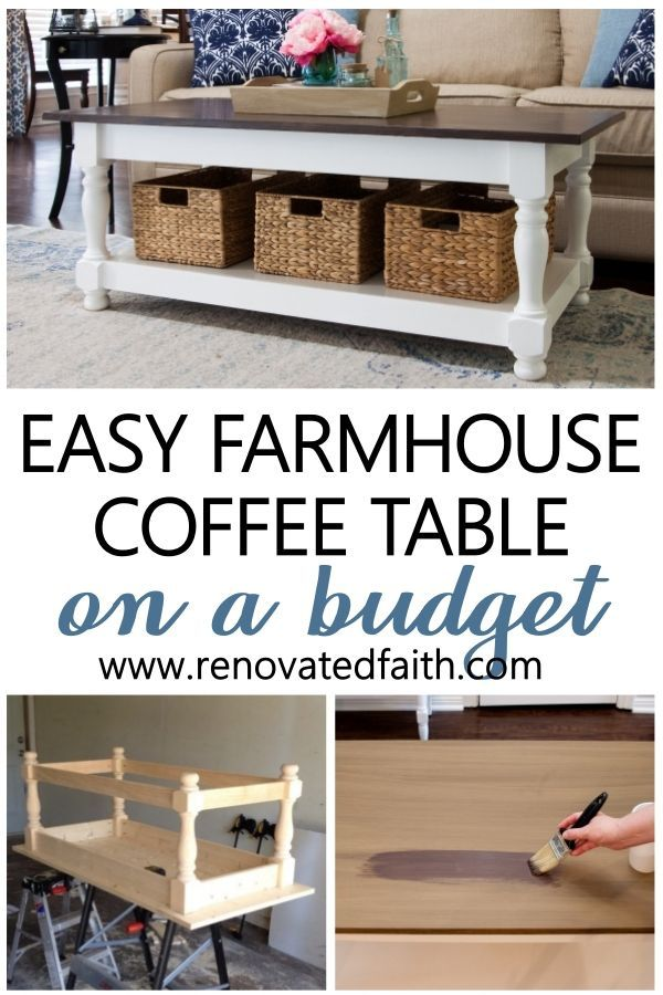 Diy Farmhouse Coffee Table With Turned Legs Storage Free Plans In 2020 Coffee Table Farmhouse Build A Coffee Table Diy Farmhouse Coffee Table
