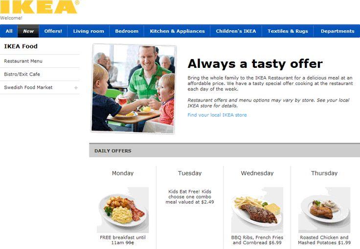 Ikea Food Menu