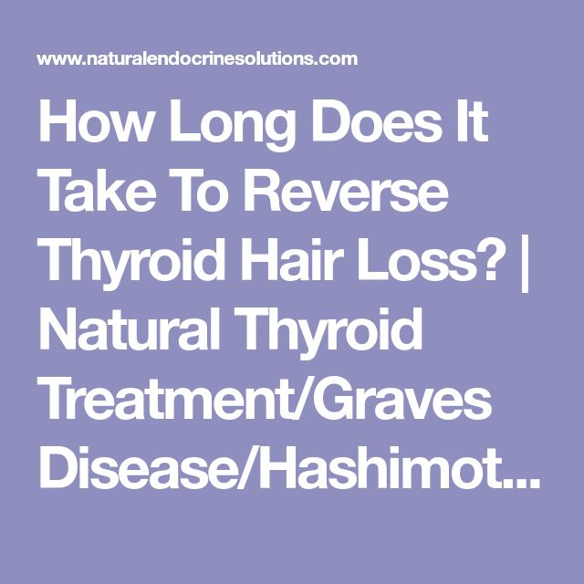 How Long Does It Take To Reverse Thyroid Hair Loss? | Natural Thyroid Treatment/Graves Disease/Hashimotos Thyroiditis