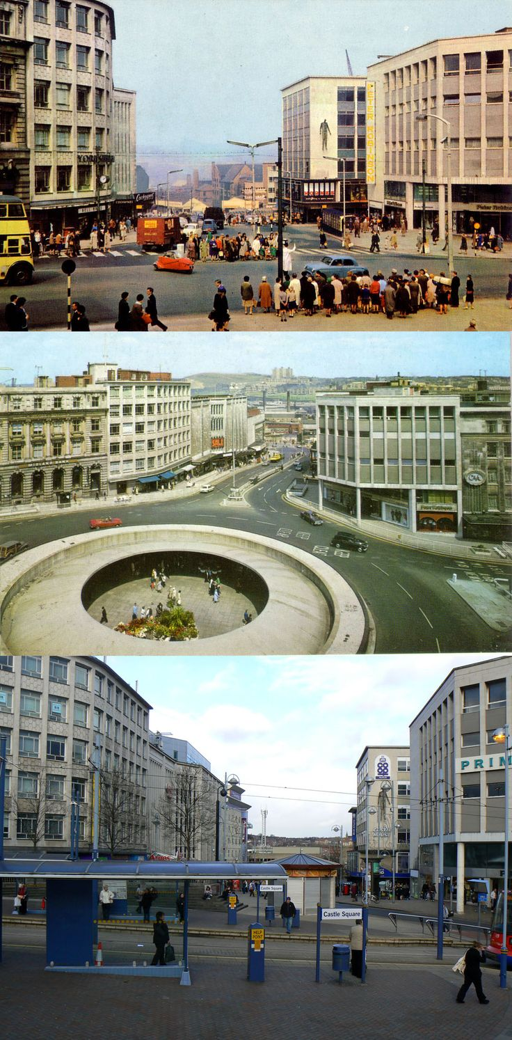 castle sq then and now. 60's 70's today