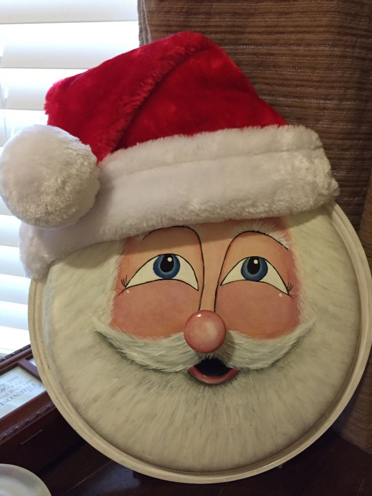 Santa pot lid re-purposed