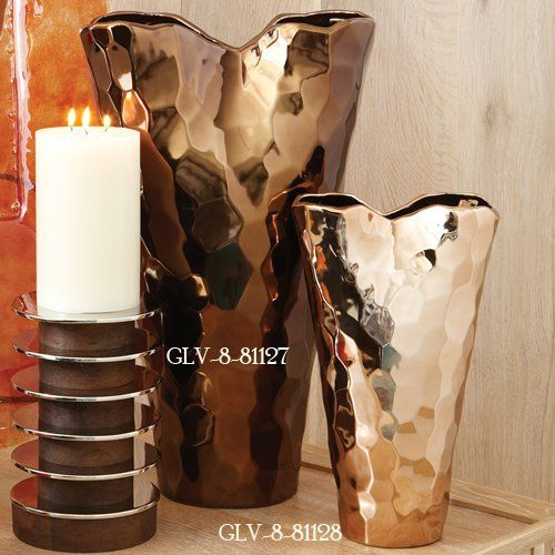 Global Views Bronze Nugget Transitional Vase - Large