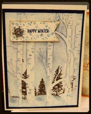 Dee's video & photo tutorials for coloring & stamping with the Woodland embossing folder from Stampin' Up!