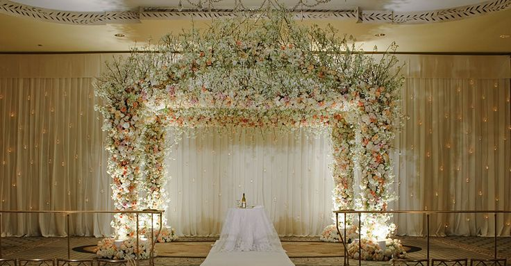 pretty white wedding