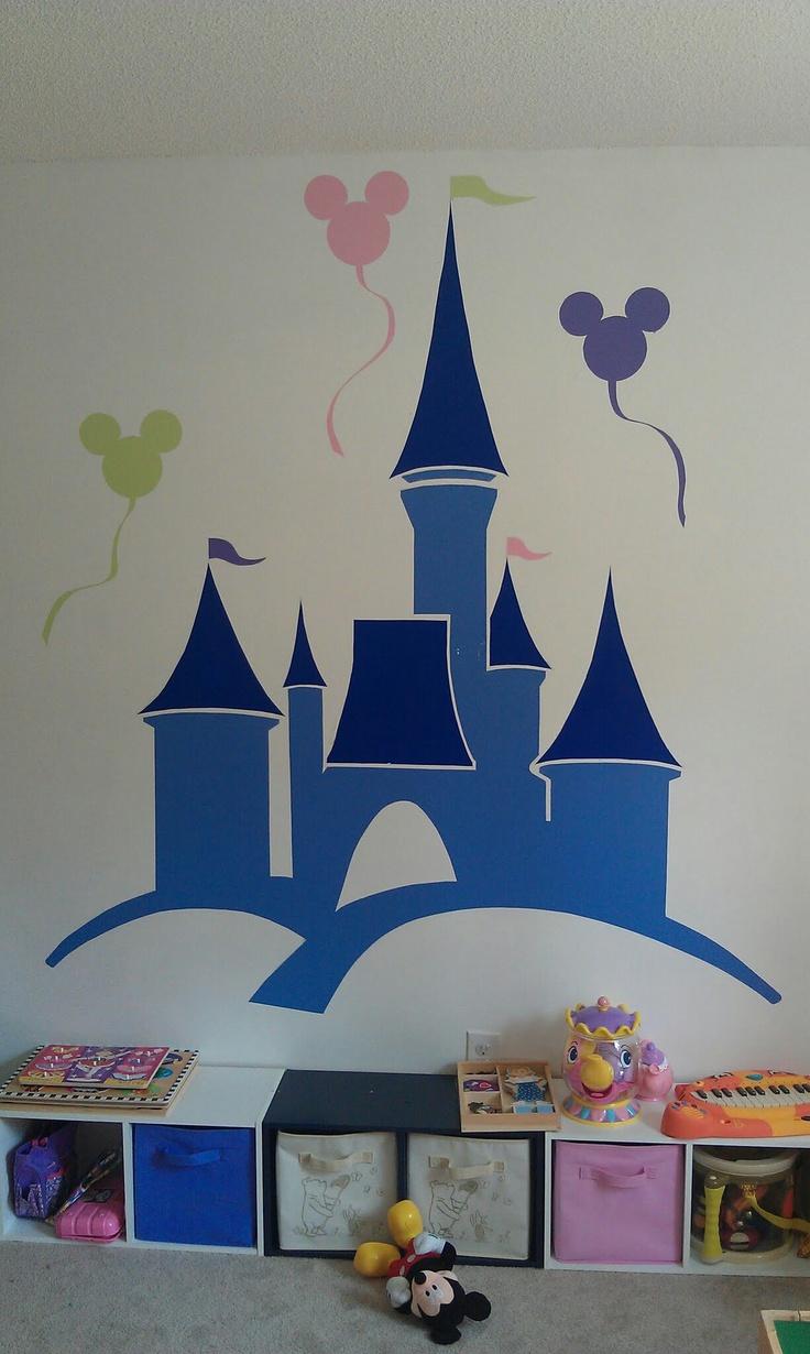 Best 25 princess mural ideas on pinterest rapunzel room playroom mural for our little princess amipublicfo Images