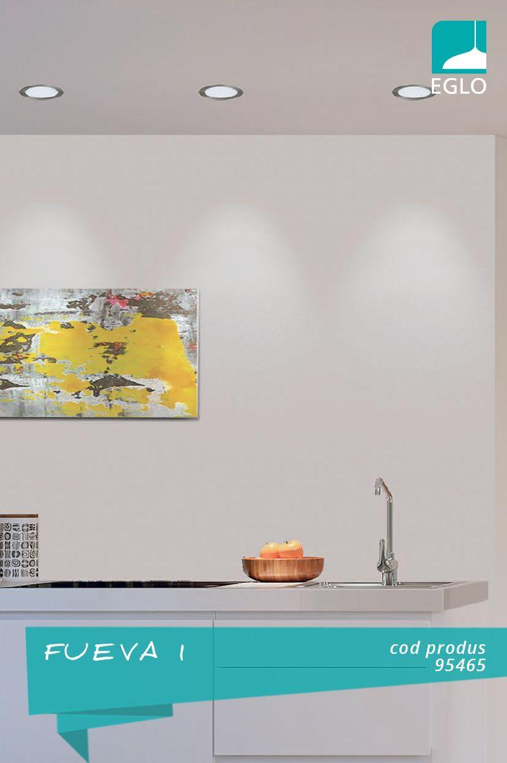 FUEVA, LED-uri rotunde pentru bucătărie cu eficiență crescută și un design care evidențiază amenajarea și detaliile alese.