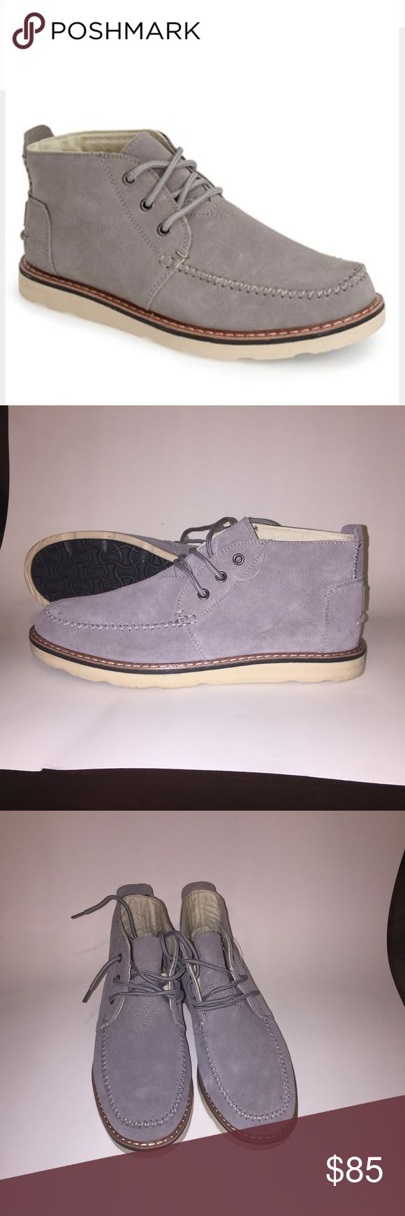 Toms Men's Chukka Boots Toms Classic Men's Suede Chukka Boots new without a box TOMS Shoes Chukka Boots