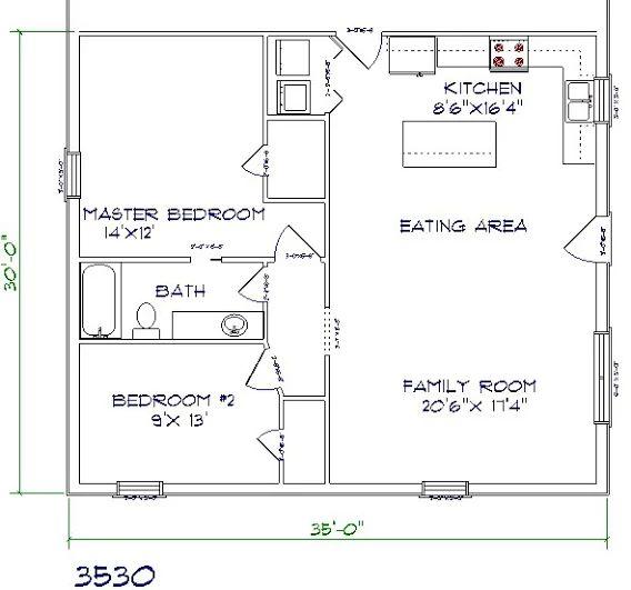 36 best apartment garage homes images on pinterest for Barndominium floor plans with garage