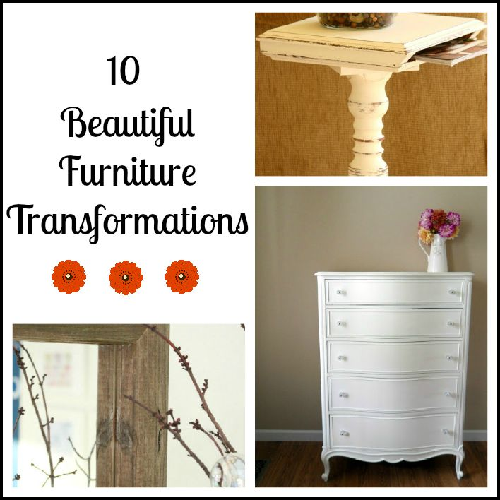 DIY: 10 Beautiful Furniture Transformations ! Tutorials For Each