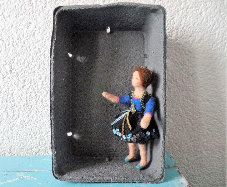 Künstlerpuppen -  KCA36 Frost frisst Frust Kleine Frau - ein Designerstück von Waschbrett bei DaWanda
