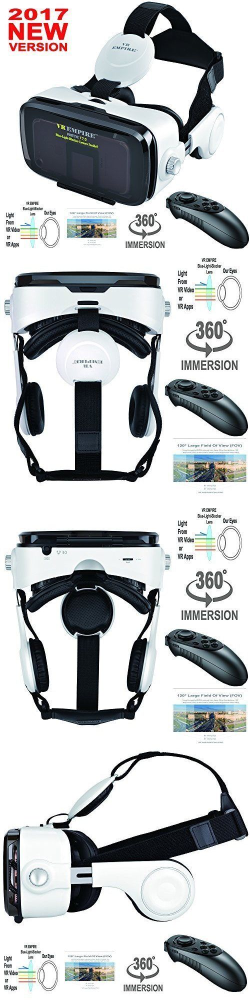 Smartphone VR Headsets: Vr Headset 3D Glasses Headphones Rc Virtual Reality For Samsung S8 S8 Plus New -> BUY IT NOW ONLY: $82.12 on eBay!