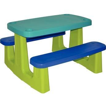 Mesa para Pic-Nic Lanche Infantil Azul 92360000 Tramontina