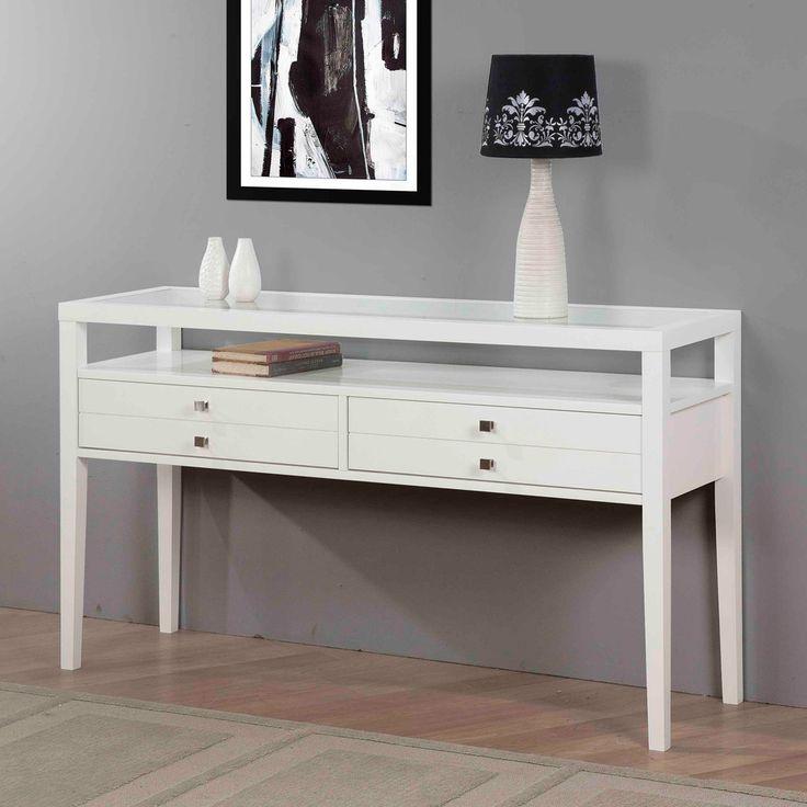 Aristo Gloss White Sofa Table | Overstock.com