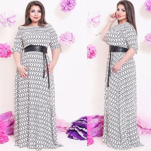 Cheap Dresses, Buy Directly from China Suppliers:     casual women's long dresses blue half sleeve Loose off shoulder floor length plus size dresses for women 2015 6xl 5