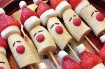 Lekker gezond doen met de kerst! De leukste fruit creaties met een kerst sfeertje! #4 lijkt me heerlijk!