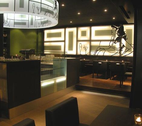 Innenarchitektur 90° Café Bar Lounge Aarau, Schweiz