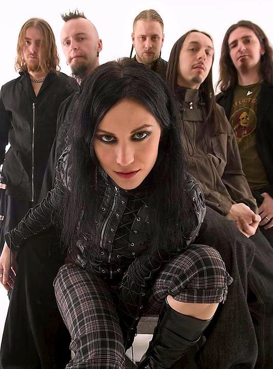 Lacuna Coil...saw them live once, it was amazing! and Cristina Scabbia is one of the hottest chicks in music!
