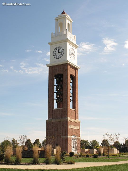 Clock Tower at the Coxhall Gardens in Carmel, Indiana