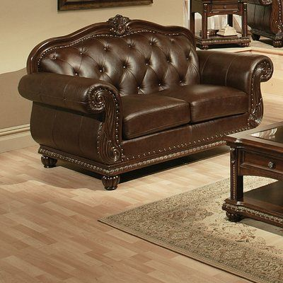 Best Astoria Grand Wentz Leather Loveseat Leather Loveseat 400 x 300