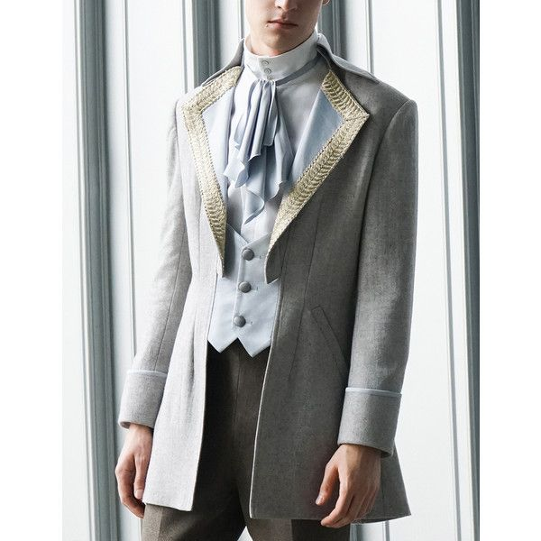 Steampunk Men Dress Coat Tuxedo Jacket Dandy Fashion ❤ liked on Polyvore featuring men's fashion, men's clothing, steampunk mens clothing, mens tuxedo suit, mens clothing and mens dinner suits