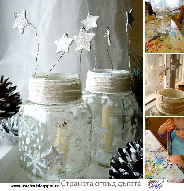 Een lantaarntje maken van een glazen pot