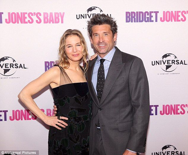They make a cute couple: Renee Zellweger and Patrick Dempsey cosied up on the red carpet at the Sydney preview screening of Bridget Jones' Baby