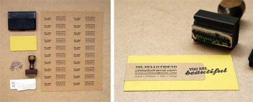 love this idea for business cards. so simple, yet personal.