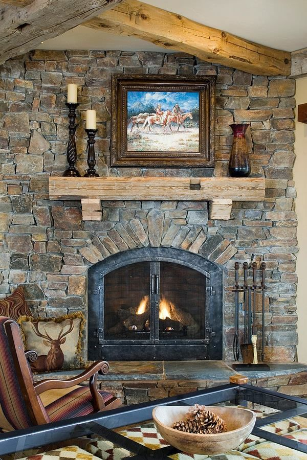 103 best Stone Fireplaces images on Pinterest : how to clean stone fireplace : how to
