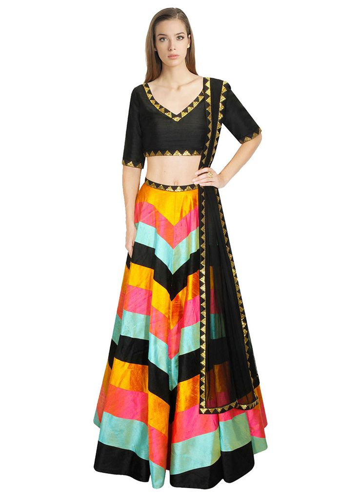 Multicolored A Line Lehenga Choli