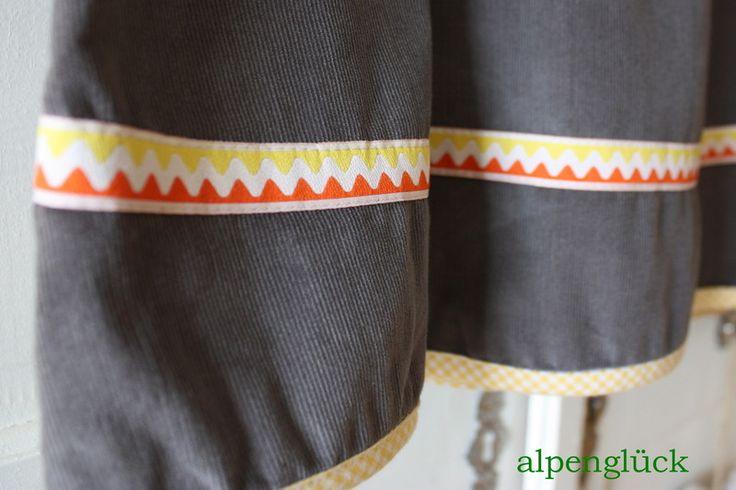 Midiröcke - rock cord ♥ gelb grau ♥ herbst & winter ♥ rabaukin - ein Designerstück von Alpenglueck-Andrea bei DaWanda