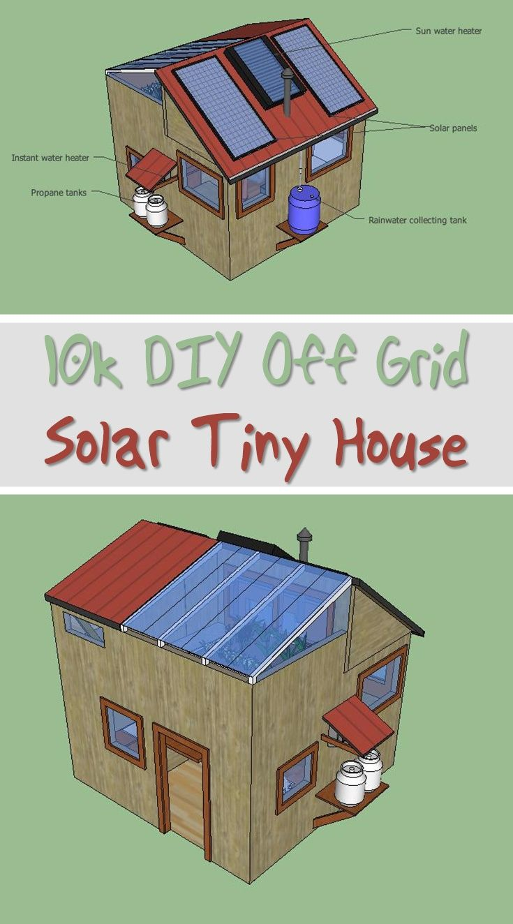 10k DIY Off Grid Solar Tiny House | Yurt | Off grid tiny