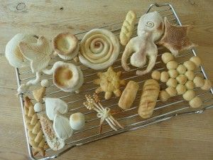 Salt dough cooked, Lammas themed