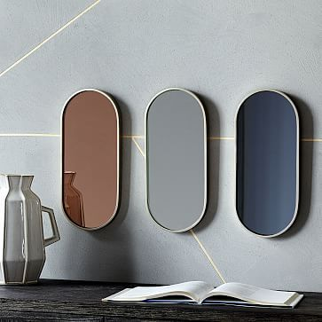 Pill Shaped Mirrors #westelm