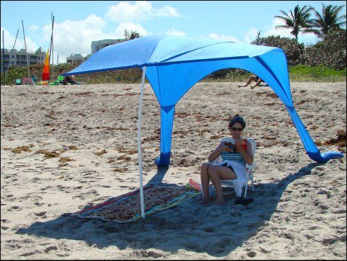 "Beach Umbrella with Sand Anchor, ""Beach Sail"" – Wind Resistant, Large 64 Sq Ft of Sun-Shade, Portable Beach Canopy, Light Weight, Durable – Made in the USA – 1 Year Warranty, Outdoor Stuffs"