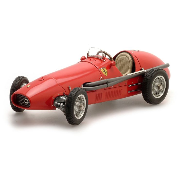 Ferrari 500 F2 1953 - 1:18 Scale. Built to 1:18 scale, this new all metal model is a sincere tribute to the legendary Ferrari 500 F2, the world championship car of 1953. Hand assembled from 1,463 parts, M-056 is exactly detailed and features such exemplary craftsmanship and precision that as to make this beautiful miniature a special gift for collectors and armchair tifosi alike.