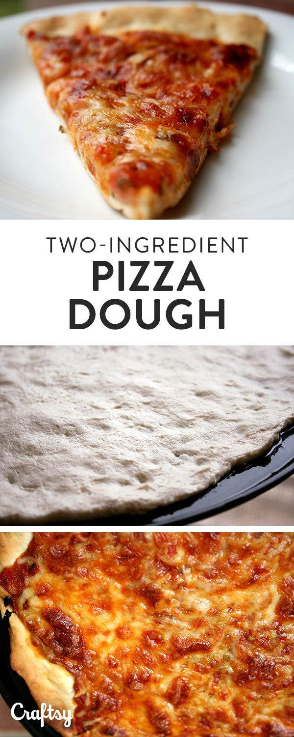 How to make perfect pizza dough with only two ingredients.