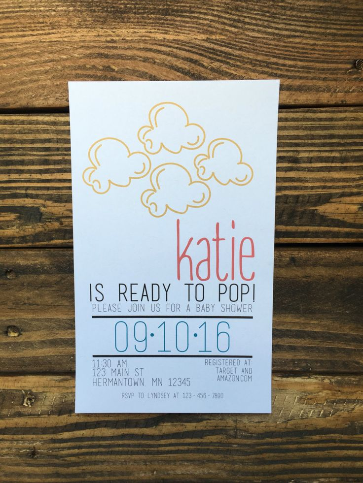 POP | About To Pop Baby Shower Invitation | Popcorn Baby Shower | Popcorn Themed Baby Shower | Baby Shower | Popcorn | About To Pop Theme by chasingprints on Etsy