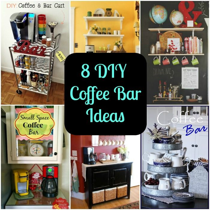 Home Coffee Bar Design Ideas: 8 DIY Coffee Bar Ideas For Your Home