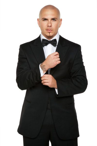 Armando Christian Pérez aka: Pitbull. Not sure about the tie