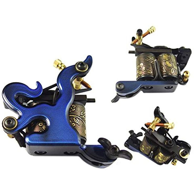 Afterlife Custom Irons 10-Wrap Coils Tattoo Machine Shader Gun - Blue -- Want additional info? Click on the image. (This is an affiliate link and I receive a commission for the sales)