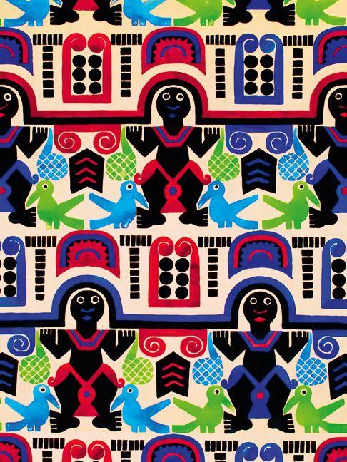 Эскиз орнамента для шелка, Лев Бакст, бумага, гуашь, 1923–1924, из собрания галереи «Наши художники»