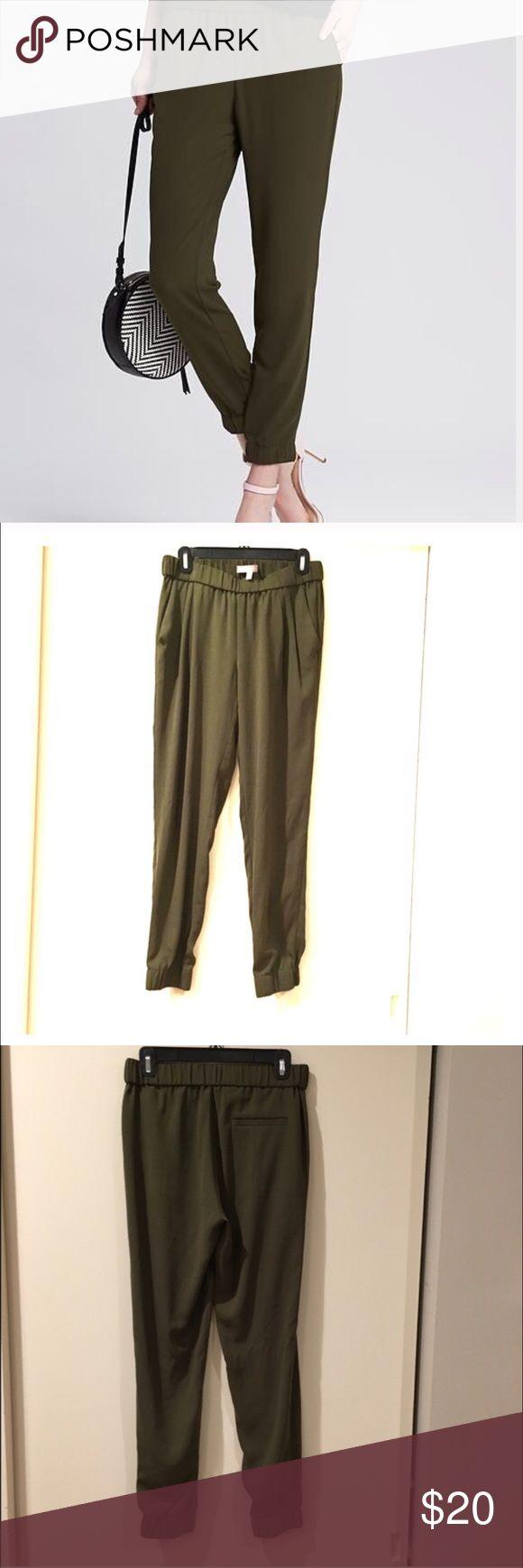 Silky draped olive pants Silky draped olive pants from banana republic nwot Banana Republic Pants