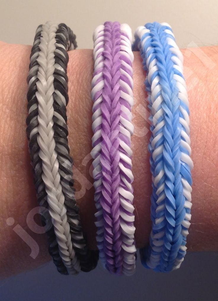 New Rainbow Loom Mini Fishtail Crossover Mash-up Bracelet